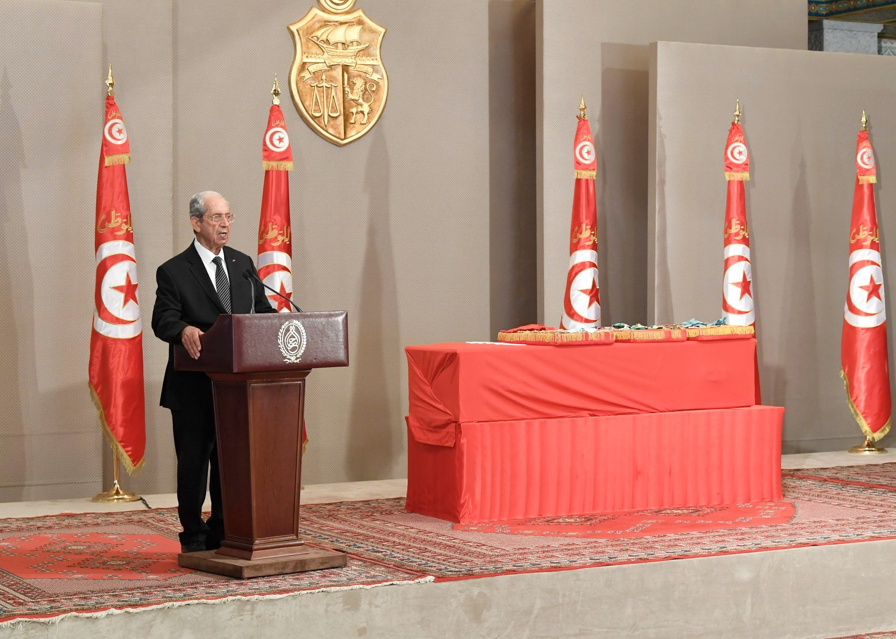 Cérémonie funèbre des obsèques de Béji Caïd Essebsi