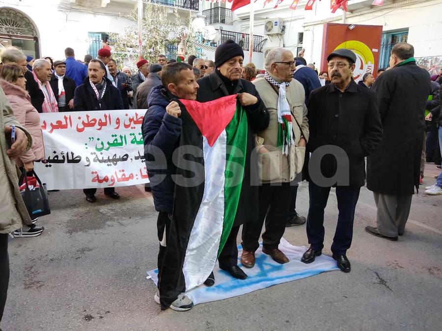 صور من التجمع النقابي في ساحة محمد علي ضد صفقة القرن