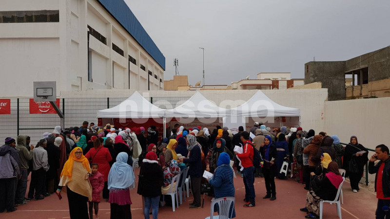 انطلاق عمليات التسجيل في اليوم الثاني من قرية الشفاء 2 بقفصة