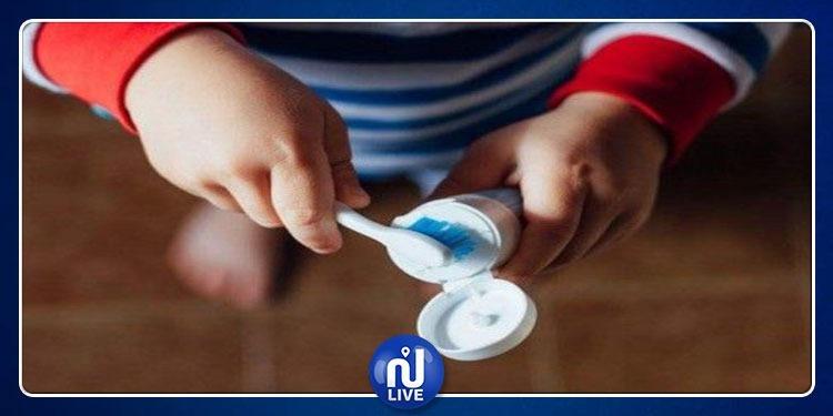 معجون الأسنان خطر على سلامة الأطفال !