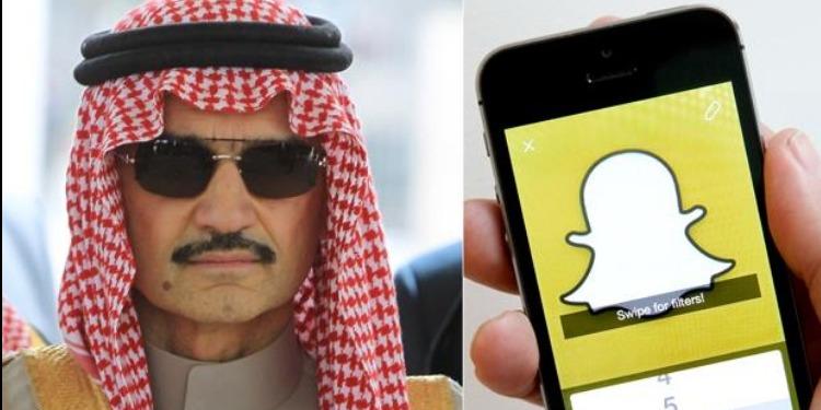 الأمير الوليد بن طلال يشتري حصة من ''سناب شات''