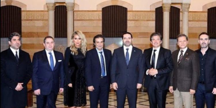 الحريري يلتقي بعدد من النجوم اللبنانيين (صور+فيديو)