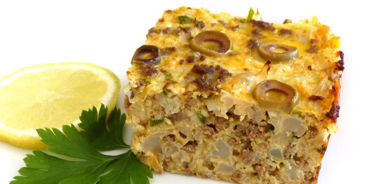 طاجين تونسي بالبروكلي واللحم المفروم