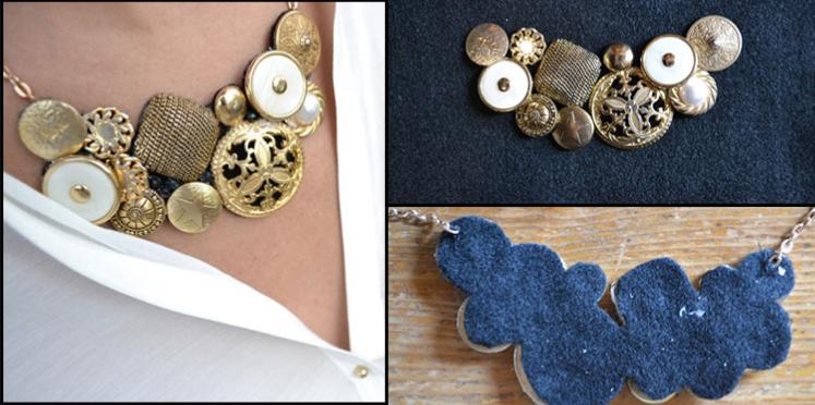 Comment faire un collier avec des boutons ?