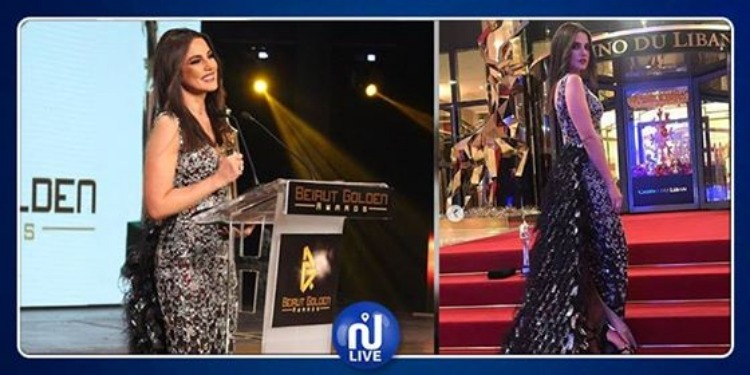 Dora Zarrouk brille de mille feux, au Beirut Golden Awards (Photos)