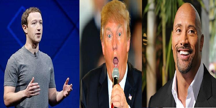 من بينهم زوكربيرغ ودوين جونسون..مشاهير يعتزمون خلافة ترامب