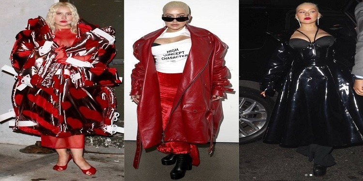 Looks extravagants de Christina Aguilera à la Fashion Week de New York (photos)