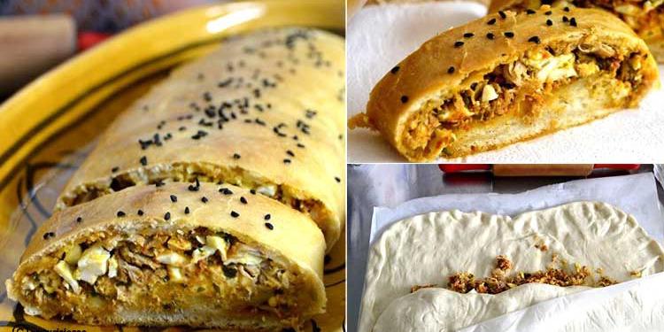 خبز بريوش محشي على طريقة التونسية