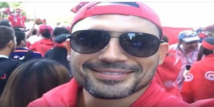 مرتديا العلم التونسي.. ظافر العابدين: ''إن شاء الله مربوحة'' (فيديو)