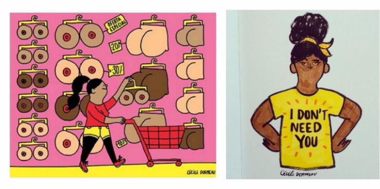 Nous les femmes, dans les illustrations de Cécile Dormeau