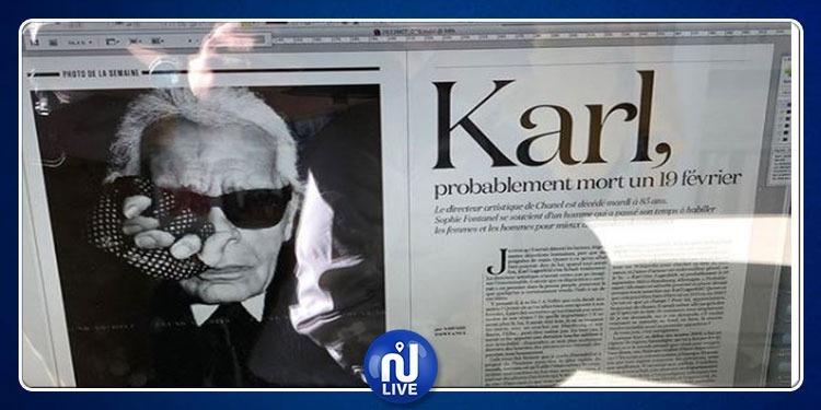 Lu sur Instagram : ''Karl, probablement mort un 19 février''…