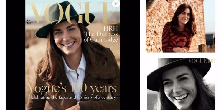 """La duchesse de Cambridge dans la peau d'un  mannequin pour """"Vogue"""""""