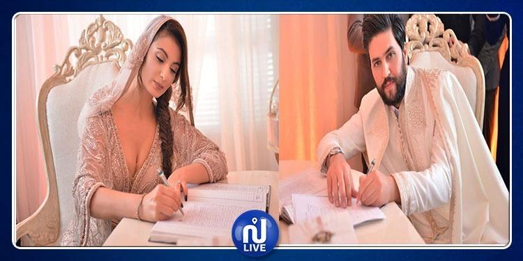 En photos: Olfa Ben Romdhane signe son contrat de mariage