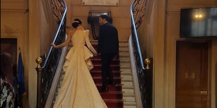 مرام بن عزيزة تحتفل بزفافها في عاصمة الأنوار (صور)