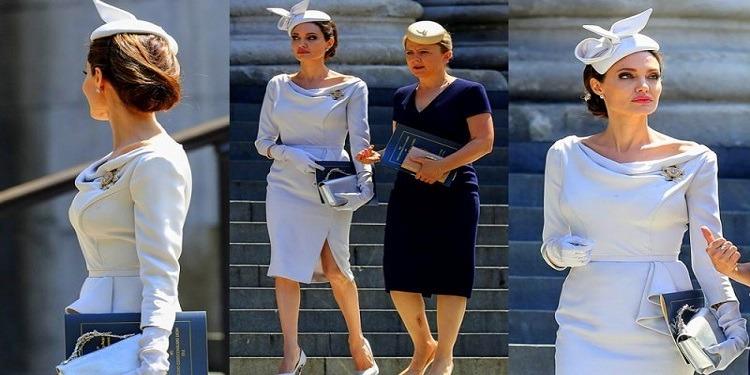 Look royal: Angelina Jolie a tout d'une reine…(Photo)
