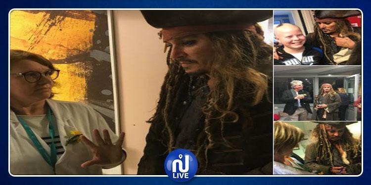 Déguisé en Jack Sparrow, Johnny Depp surprend des enfants malades