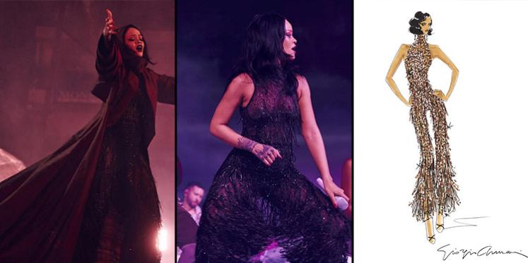 "Rihanna s'habille en Giorgio Armani pour sa tournée ""Anti"" 2016"