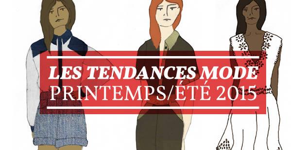Les tendances mode printemps/été 2015