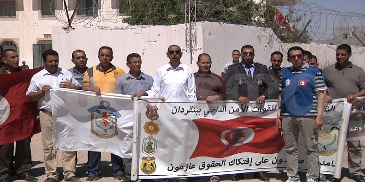 بن قردان: قوات الأمن تحتج وتهدد بالاعتصام امام وزارة الداخلية (صور)