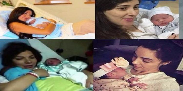 سعادة نجمات أمهات باستقبال أطفالهم