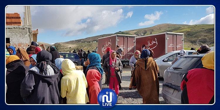 قافلة الخير لجمعية خليل تونس في ولاية سليانة (صور)