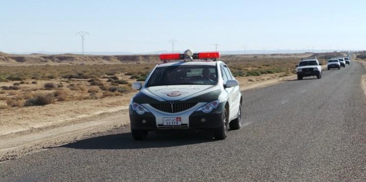زغوان: انقلاب سيارة تابعة للحرس الديوانى اثناء عملية مطاردة