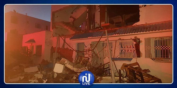 انفجار منزل بالمروج الخامس (صور)