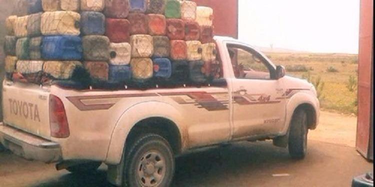 تاجروين: حجز شاحنة محملة بكمية من المحروقات المهربة