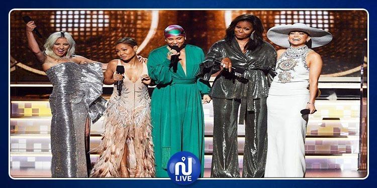 Michelle Obama, l'invitée surprise des Grammys...(Vidéo)