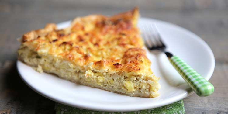 كيش الجبن والبصل بطريقة جديدة