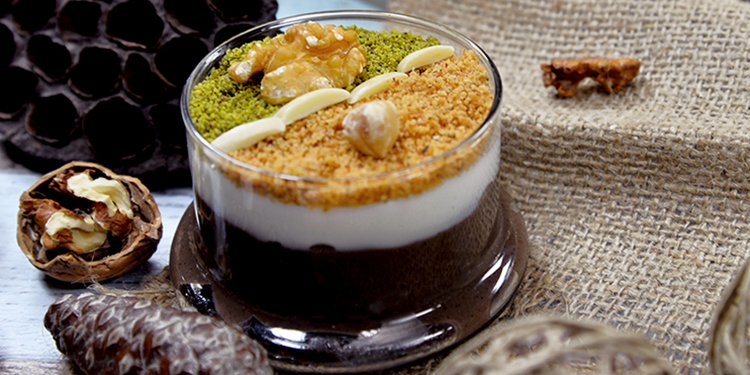 Assidet zgougou (Crème aux Graines de pin d'alep)