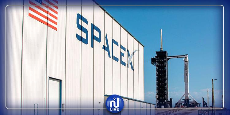 Le lancement de SpaceX devant le président Trump