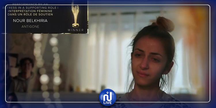 La tunisienne Nour Belkhiria remporte son premier prix au « Canadian Screen Awards »