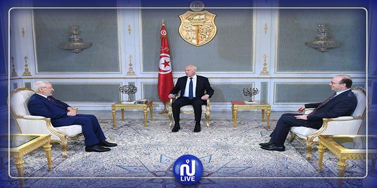Saied s'entretient avec le président de l'ARP et le chef du gouvernement