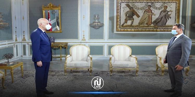 Kais Saïed reçoit le président du syndicat des journalistes