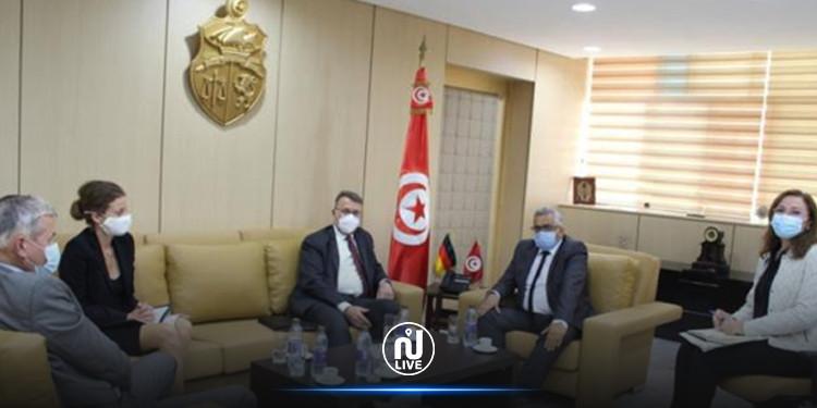 Le ministre de la Justice reçoit l'ambassadeur d'Allemagne à Tunis