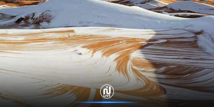 Algérie : les portes du Sahara recouvertes de neige