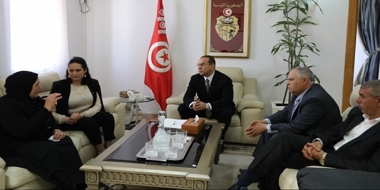 Ben Gharbia et Majdouline Cherni rencontrent la famille de Omar Laabidi
