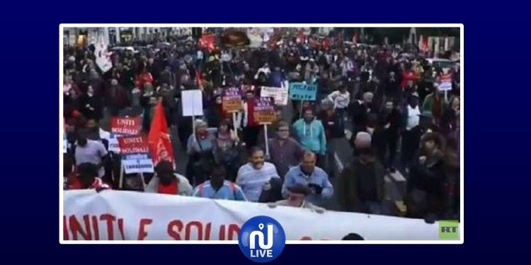 روما: الألاف يتظاهرون ضد مرسوم مناهض للمهاجرين