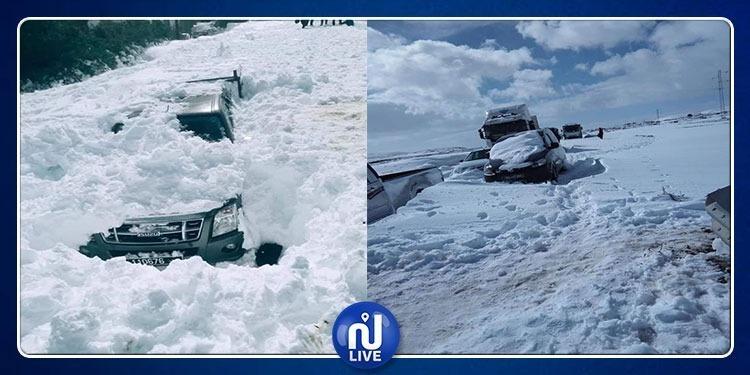 سليانة: الحافلات السياحية والسيارات تعود أدراجها بسبب الثلوج