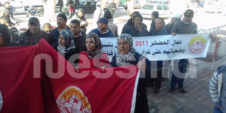 قفصة: عودة الاحتجاجات أمام مقر الولاية