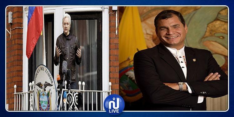Affaire Assange: l'ex-Président de l'Équateur bloqué sur Facebook