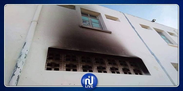 نابل: اقتحام المعهد الثانوي بالهوارية و اضرام النار فيه (صور)