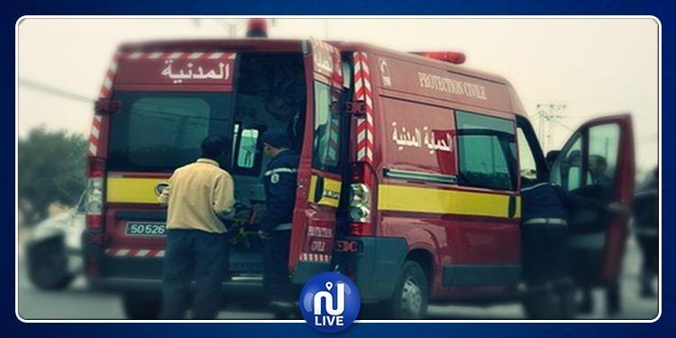 إصابة 5 أشخاص في حادث مرور بسيدي بوزيد