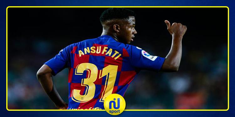 برشلونة مهدد بفقدان اللاعب ''أنسو فاتي'' لـ7 مباريات