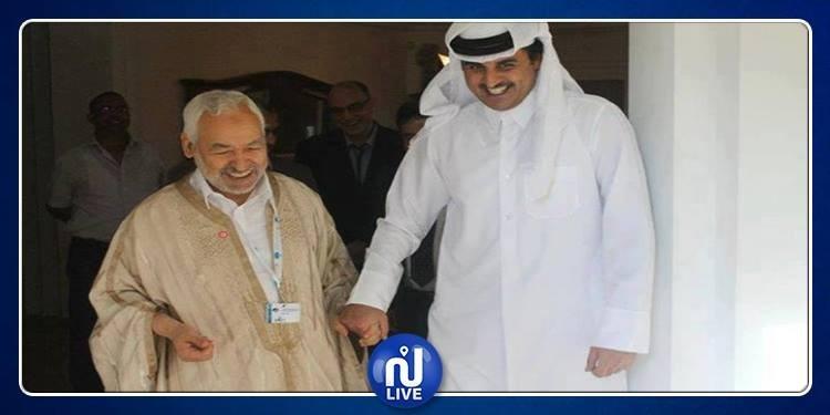 وسائل إعلام: راشد الغنوشي لحق بأمير قطر للمطار