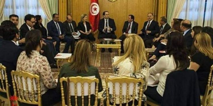 Youssef Chahed se réunit avec des cadres de Nidaa Tounès
