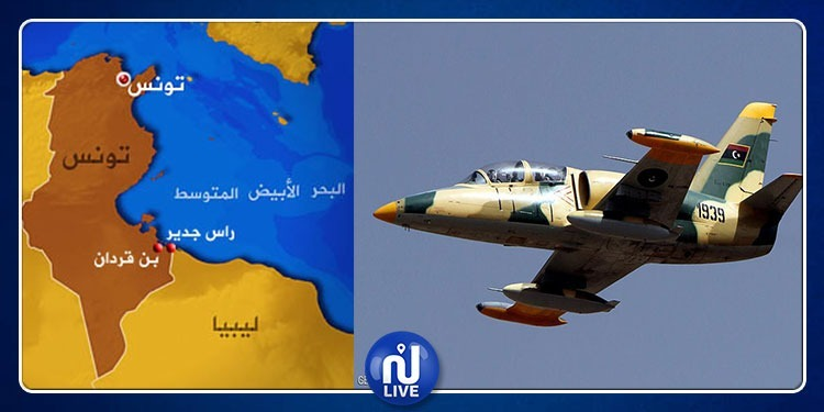 قوات حفتر تقصف هدفا قريبا من تونس