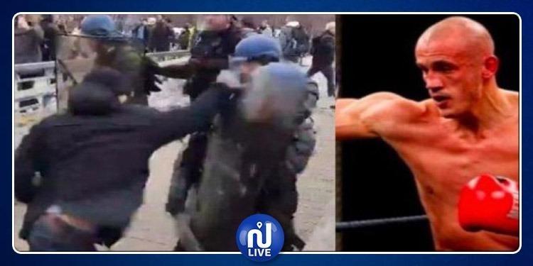 السترات الصفراء:الشرطة تحدد هوية المتظاهر الذي لكم عون الامن(فيديو)