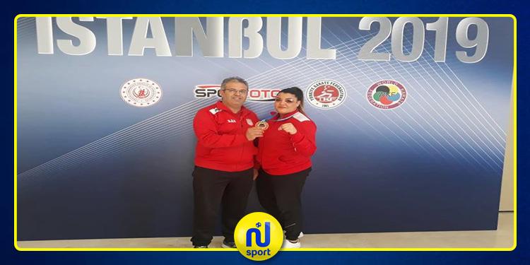 شهيناز الجامي تحرز برنزية دورة اسطنبول الدولية للكاراتي